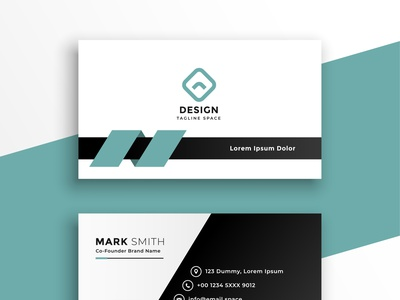 Professional Business Card with Mockup portfolio typography branding professional business card business card design business card