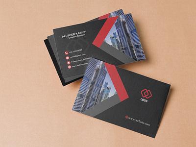 Professional Business Card branding typography logo design illustration portfolio real estate business card professional