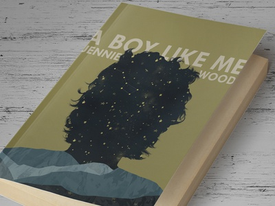 """A Boy Like Me"" Book Cover illustration book cover print design graphic design publishing novel literature hair stars mountains"