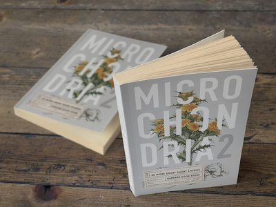 Microchondria 2 typography science illustration book covers plants illustration label science vintage botany print design book cover
