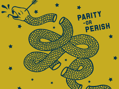 Parity or Perish equality americana illustration vector lgbtq civil rights stars snake