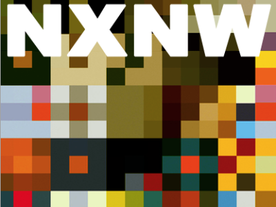 NXNW Magazine arial black magazine identity cover branding pixel square typography