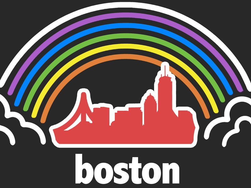 Boston Pride love wins intersex questioning transgender bisexual gay lesbian logo queer gay pride pride massachusetts boston lgbtqia rainbow graphic design