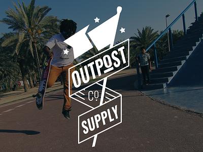 Outpost Supply Co. website splash website development typography website banner website design website flag stars logo identity branding graphic design