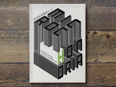 Microchondria 3 print design book covers bookmarklet design graphic design typography futuristic cubic