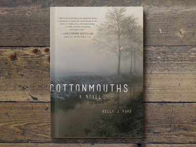 Cottonmouths Book Cover country rural river fog grit southern south fiction literary book cover design book cover print design design typography graphic design