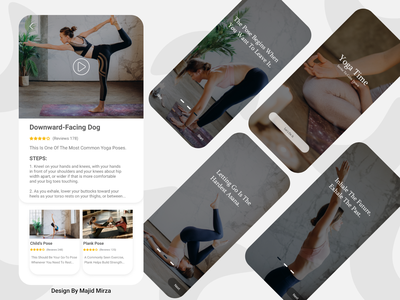 Yoga App Design yoga app sport application app yoga uidesign ux ui ui  ux design uiux minimal design 2021 trend 2021