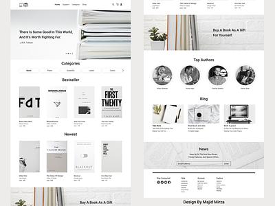 Online Book Store website online store book book store minimaldesign minimal design web designer web design webdesign web ux ui  ux design uiux uidesign ui minimal design 2021 trend 2021