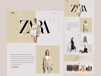 ZARA Website Concept website 2021 trend 2021 uiux uidesign design minimal ui