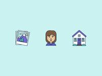 Icon design for company presentation