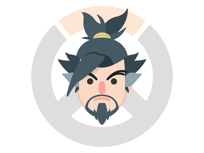 Overwatch Hanzo icon awesome video game pc ps4 xbox fps blizzard overwatch hanzo kawaii
