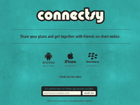 Connectsy landing page