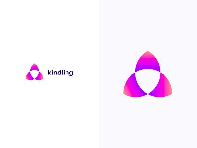 Kindling logotype logodesign colorful logo design colorful design color colorful logo branding logo design
