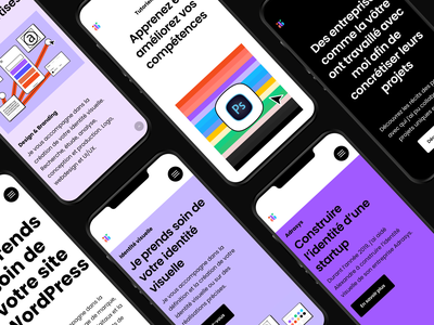 Studio | AB - Mobile Screens design art graphic internet digital website illustration colorful design colorful logo branding design
