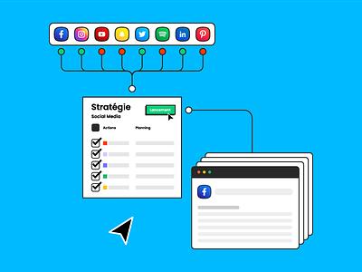 Studio | AB Social Media visual identity branding minimal colorful agency studio seo naming support webdesign design