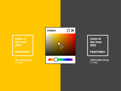 Color of the Year 2021 by PANTONE ui web minimal colorful design colorful logo colorful branding design colors palette colors year pantone color