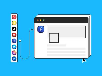 Guide taille réseaux sociaux tools illustration branding colorful design social media design webdesign web size social media