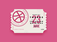 Ticket Dribbble Jonathan Quintana