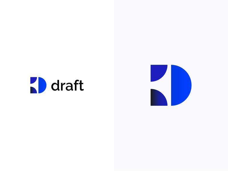 Draft logotype logodesign colorful logo design colorful design color colorful logo branding logo design
