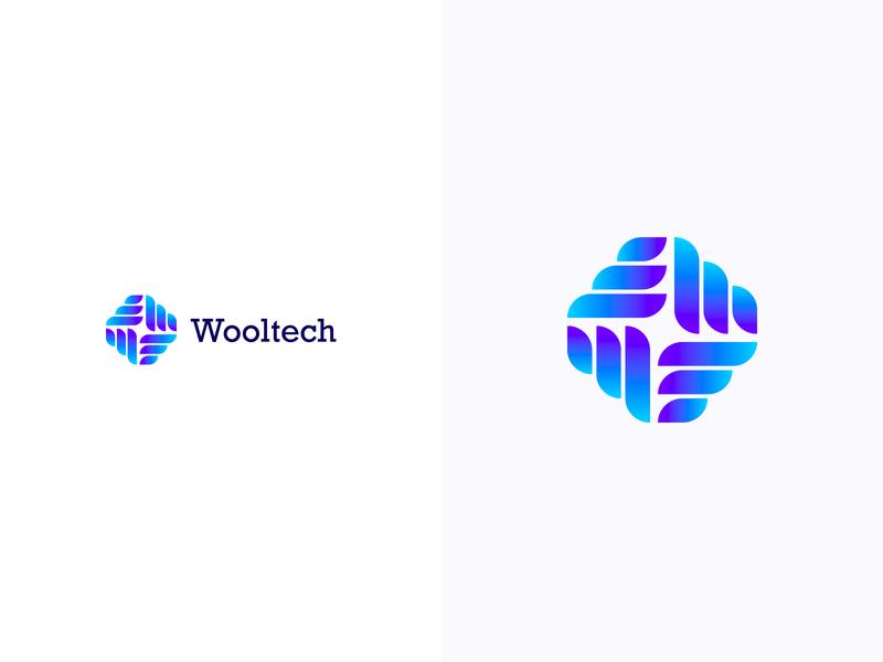 Wooltech logotype logodesign colorful logo design colorful design color colorful logo branding logo design