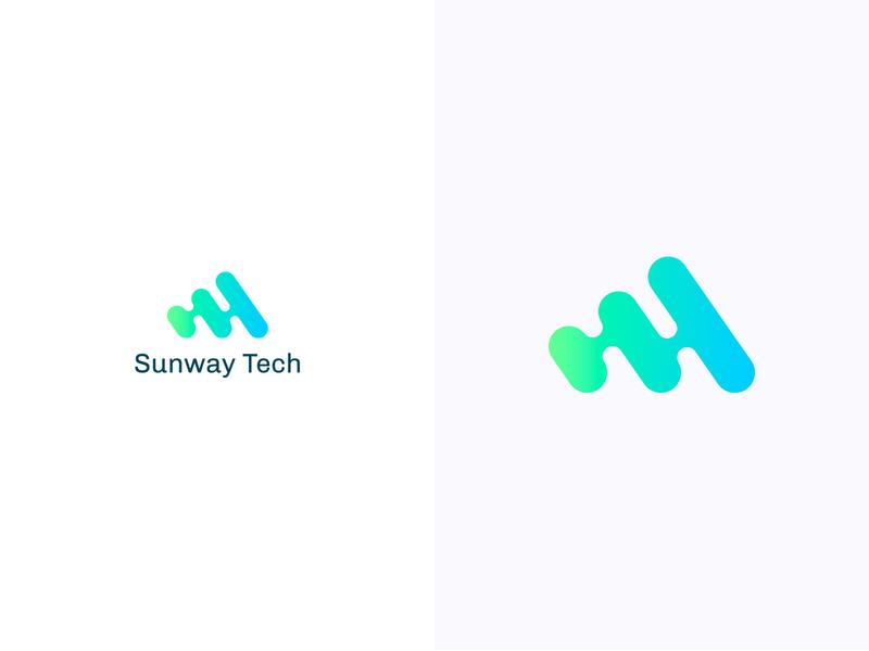 Sunway Tech logotype logodesign colorful logo design colorful design color colorful logo branding logo design