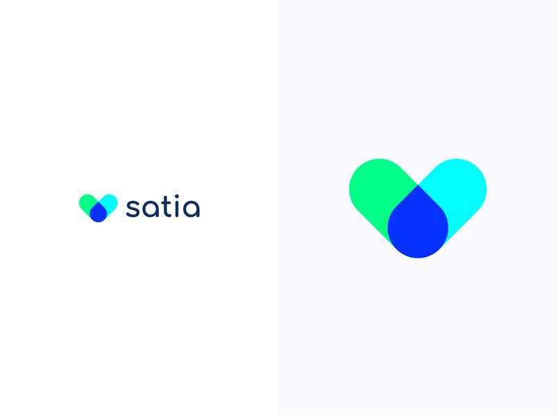 Satia logotype logodesign colorful logo design colorful design color colorful logo branding logo design