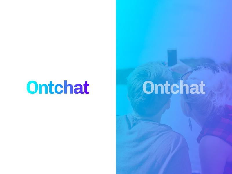 Ontchat logotype logodesign colorful logo design colorful design color colorful logo branding logo design