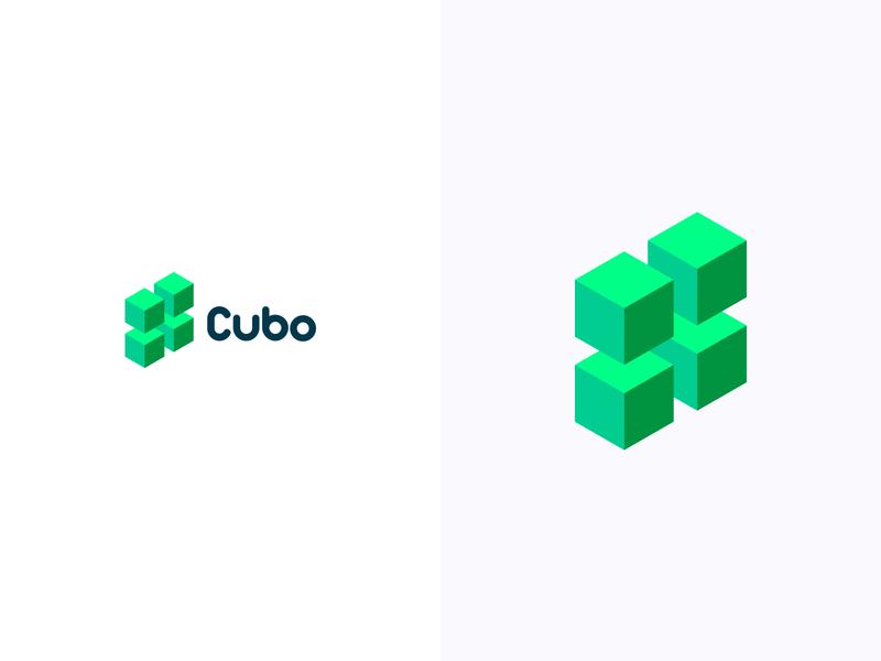 Cubo logotype logodesign colorful logo design colorful design color colorful logo branding logo design