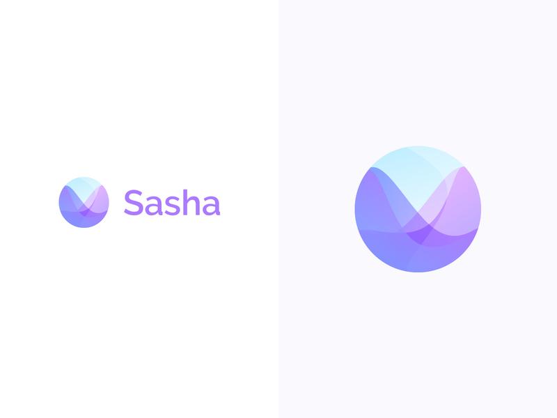Sasha logotype logodesign colorful logo design colorful design color colorful logo branding logo design