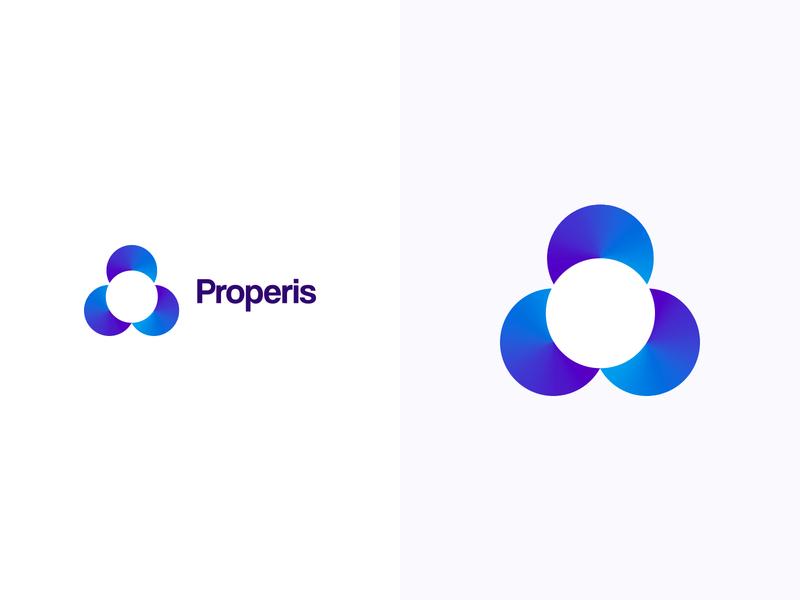 Properis logotype logodesign colorful logo design colorful design color colorful logo branding logo design