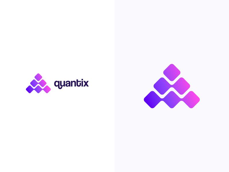 Quantix logotype logodesign colorful logo design colorful design color colorful logo branding logo design