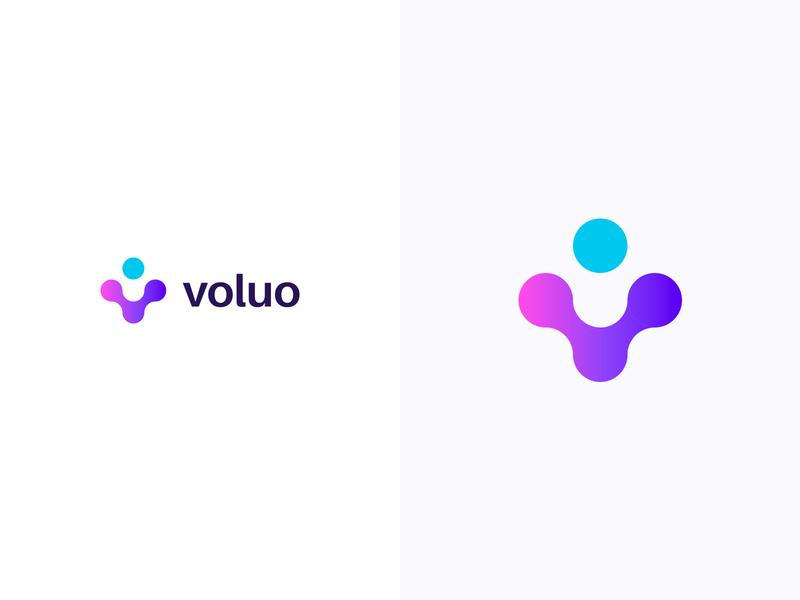 Voluo logotype logodesign colorful logo design colorful design color colorful logo branding logo design