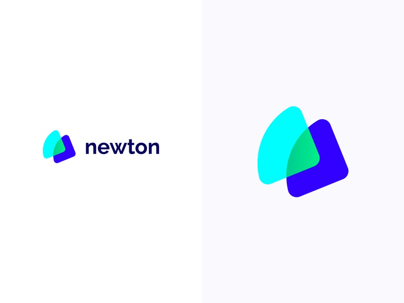 Newton logotype logodesign colorful logo design colorful design color colorful logo branding logo design