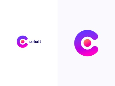 Cobalt logotype logodesign colorful logo design colorful design color colorful logo branding logo design