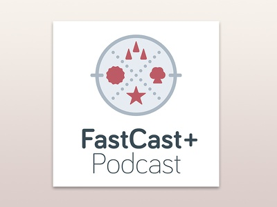 FastCast+ Podcast Logo disney podcast branding logo