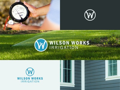Wilson Works Irrigation irrigation lawncare logo branding
