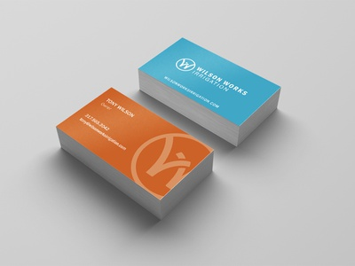 Wilson Works Irrigation Business Cards print branding business cards stationary