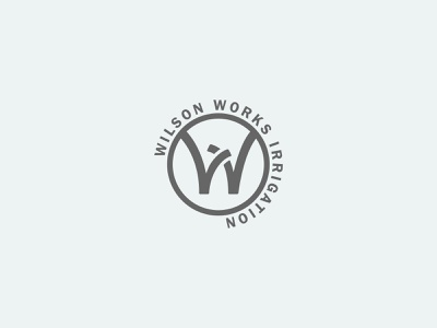 Wilson Works Irrigation Badge Logo casestudy logo lawncare irrigation branding