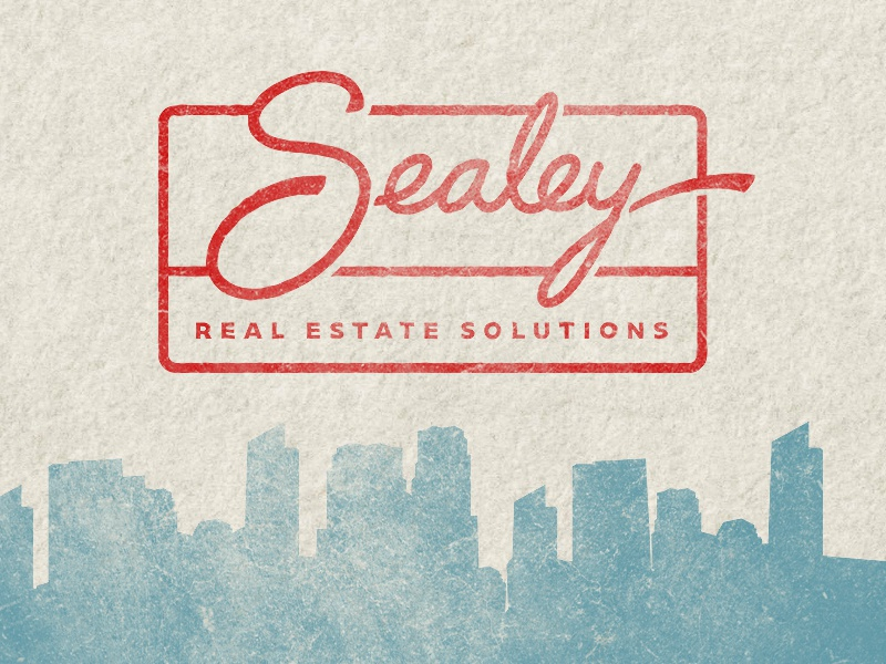 Sealey Logo logotype logo sealey real estate hand letter