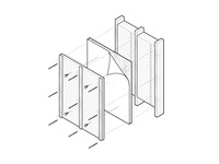 Wall Assembly - Exploded view