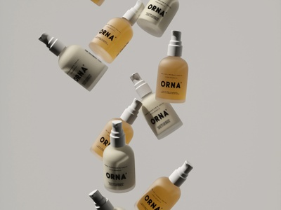 ORNA® Formula glass texture pump bottle skincare skin 4d cinema cosmetics packaging modeling c4d octane render 3d