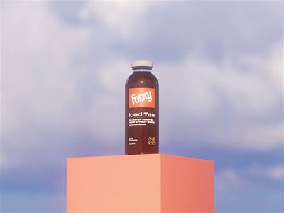 ForJoy Tea Animation photography logo focus lab focuslab branding glass redshift cinema4d c4d bottle packaging render 3d
