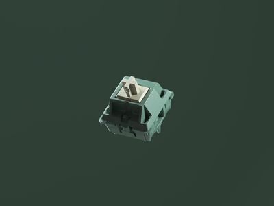 Protozoa Moss Switch keys mechanical texture rendering keyboard hardware cinema4d c4d 3d art octane render 3d