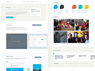 Press Kit Page logo brand color cards typography website focus lab