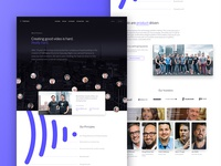 Frame.io About Page