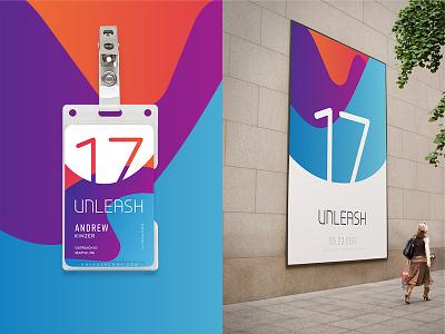Unleash Mockups poster badge conference branding focus lab