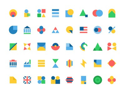 Uplevel Unit Icons geometric abstract illustration iconography icons focus lab