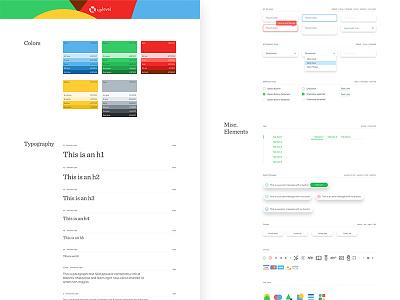 Uplevel UI Styleguide swatch styleguide ui kit typography website focus lab