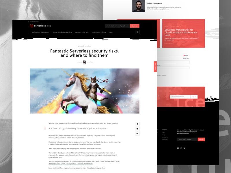 Serverless Blog sign up hero header site post blog focus lab