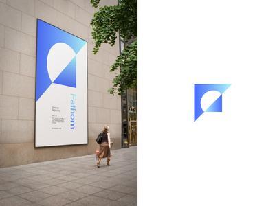 Mark exploration refraction prism branding gem crystal facet mark logo focus lab
